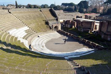 Амфитеатр Помпеи, древнеримский город. Италия