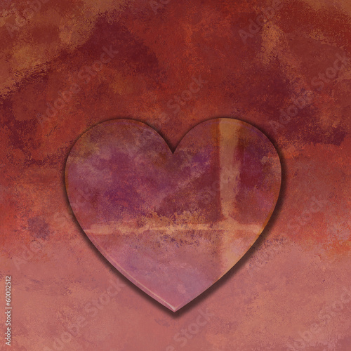Love Heart  with texture