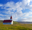 Typical rural icelandic church