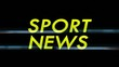 Sport News Only Text with Alpha Channel, Loop