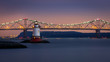 The Little White Lighthouse and the Tappan Zee bridge