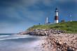 Leinwandbild Motiv Montauk Point Lighthouse in Long Island, NY