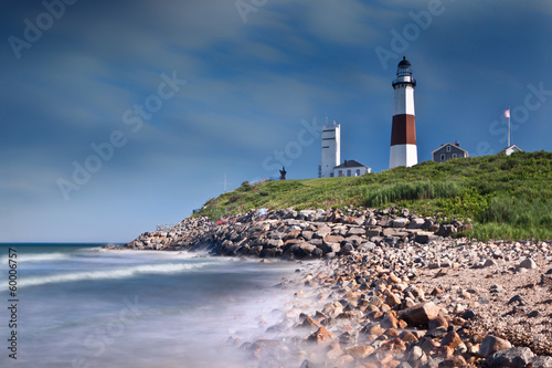 Fotobehang Vuurtoren / Mill Montauk Point Lighthouse in Long Island, NY