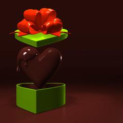 Heart-ShapedGiftBoxAndChocolateWithTextSpace