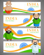 vector illustration of Indian people of different caste