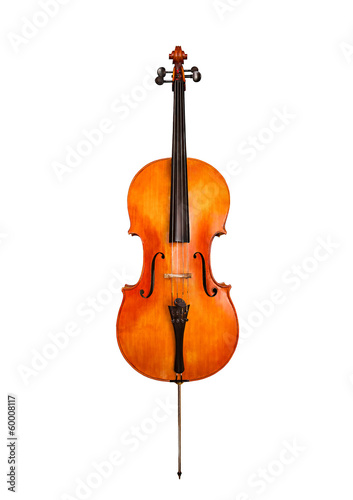 Cello isolated on white