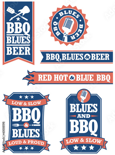 Barbecue and Blues Badges