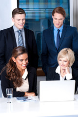 Group of business executives at office