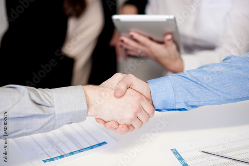Successful businessmen shaking hands