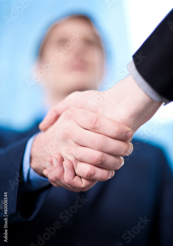 Business handshake among two corporates