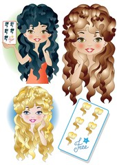 free hairstyle card