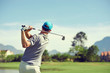 Leinwandbild Motiv golf shot man