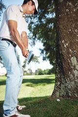 golf in rough