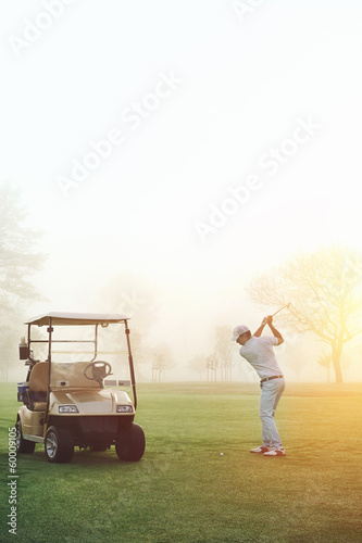 golfer sunrise