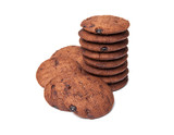 chocolate cookies isolated on a white background