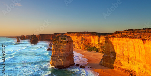 In de dag Kust The Twelve Apostles, Great Ocean Road, Australia