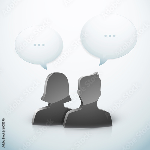 Couple homme femme discussion