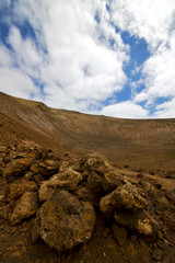 stone  spain volcanic timanfaya  rock  hill and summer