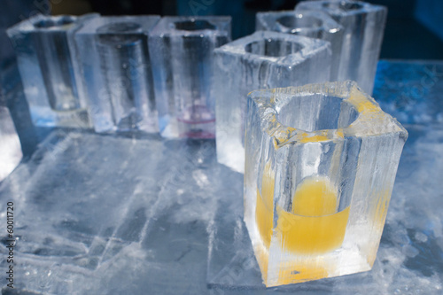 ice blocks glasses