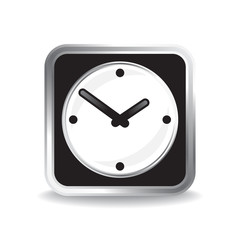 Infographic icon of classic analog clocks. Vector.