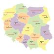 Zdjęcia na płótnie, fototapety, obrazy : map of Poland with voivodeships