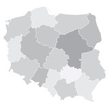map of Poland with voivodeships