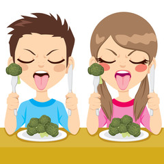 Kids Disgusted Eating Broccoli