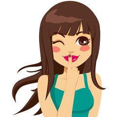 Woman Secret Winking