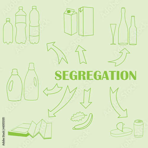 Concept of trash segregation