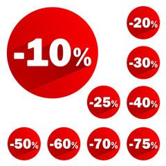 Poster de Tampons Publicitaires (pourcentage soldes offre)