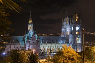 cattedrale di quito notturna