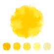 Set of yellow water color design for brush, textbox, design