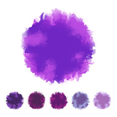 Set of purple water color design for brush, textbox, design