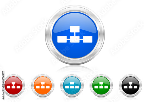 database icon vector set