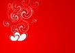 Valentines Day bright vector background