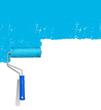 Wand Farbe blau