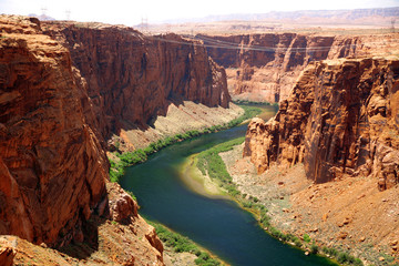 Classic nature of America -  Colorado river close to Glen canyon