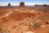 Monument Valley, desert canyon in Utah, USA