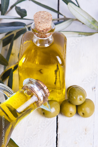 bottle of extra virgin olive oil bottled