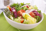 bowl of salad and tomatoes