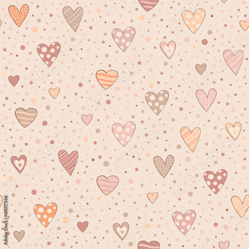 seamless pattern with hearts - 60017566