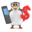 Academic penguin calculates in US Dollars