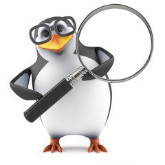 Academic penguin studies very closely