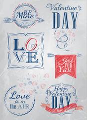 Set Valentine's Day and Love.