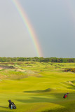 rainbow over the golf course, St Andrews, Fife, Scotland