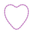 Purple chain in shape of heart