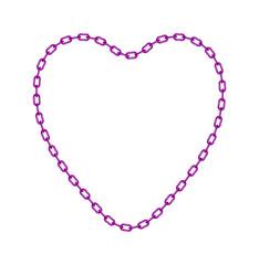 Purple chain in shape of heart
