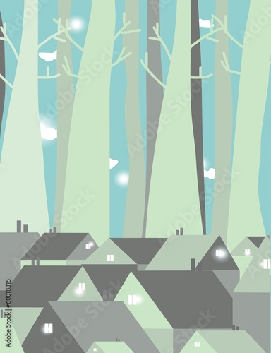 Houses design vector background