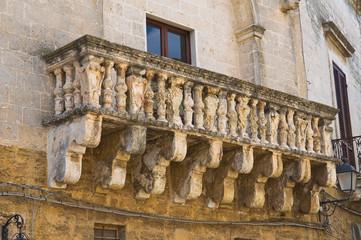 Historical palace. Mesagne. Puglia. Italy.