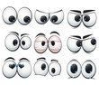 Cartoon expression eyes with different views - 60019304